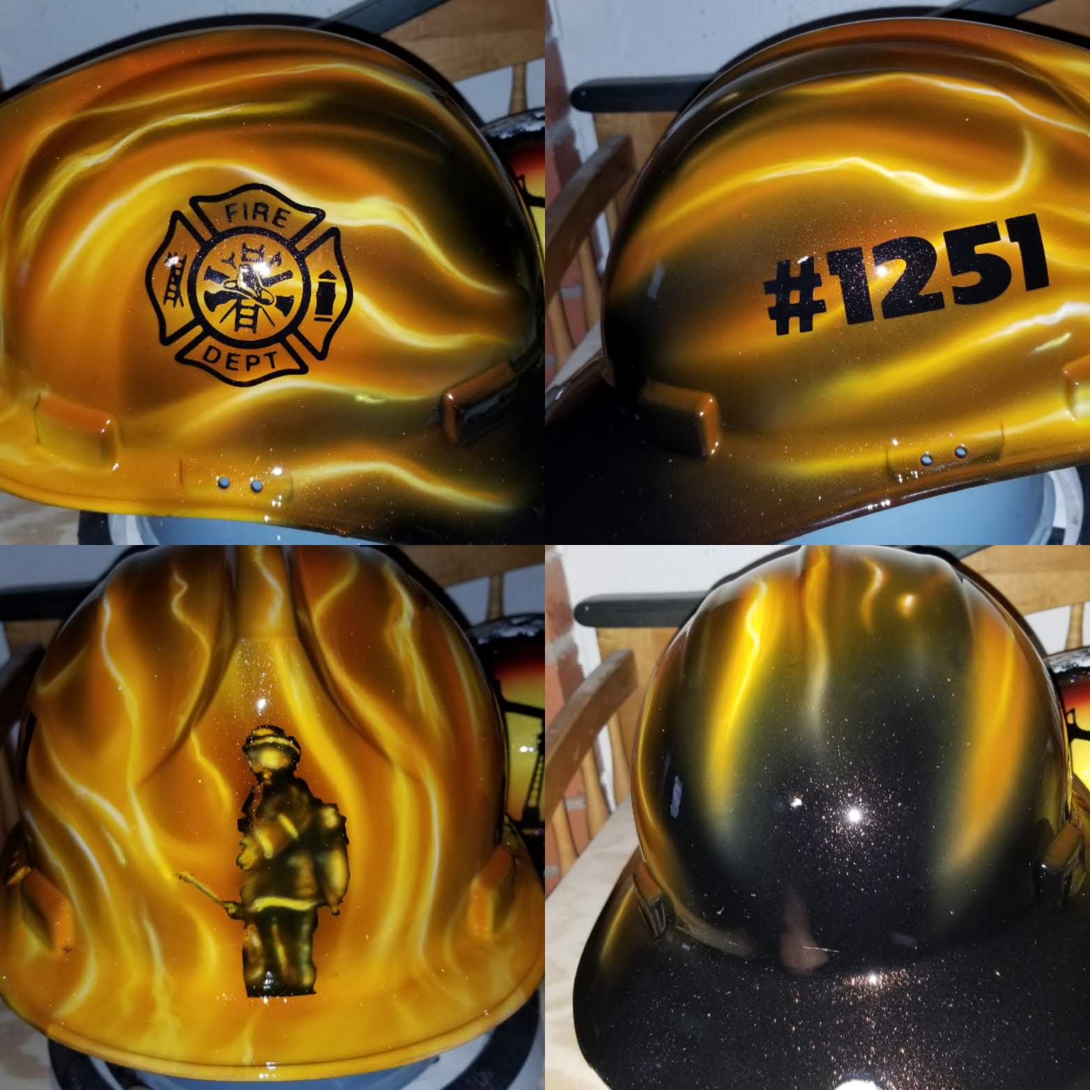 Custom fire helmet