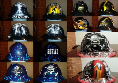 Custom hard hats by Zimmer DesignZ